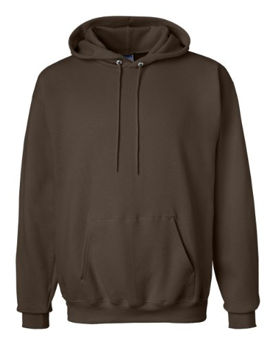 Hanes mens 9.7 oz. Ultimate Cotton 90/10 Pullover Hood(F170)-Dark Chocolate-L