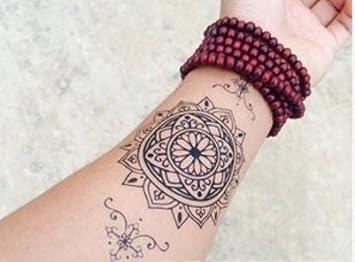 Arm Tattoo Mandala Tattoo Schwarz Fake Tattoo Flash Tattoo C006