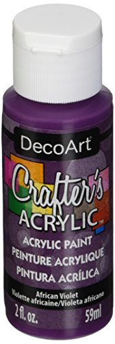 DecoArt Crafter's Acrylic Paint, 2-Ounce, African Violet (Violet Acrylic Paint)