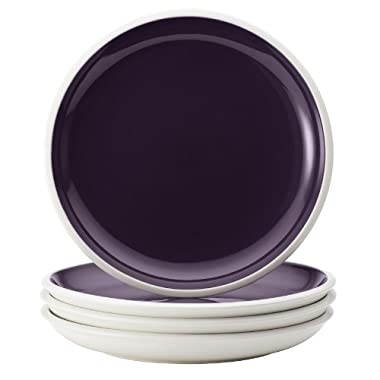 Rachael Ray Dinnerware Rise Collection 4-Piece Stoneware Salad Plate Set, Purple