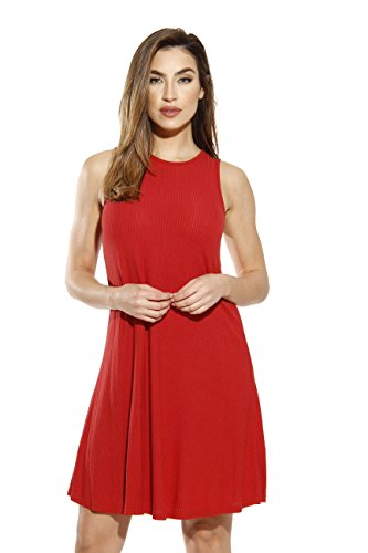 Just Love 401560-RUS-XL Sleeveless Trapeze Short Dress/Summer Dresses for Women Rust