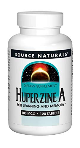 (Source Naturals Huperzine A 100mcg, for Learning and Memory, 120 Tablets)