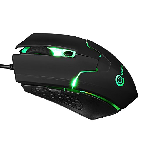 Ombar Gaming Mouse Wired, Gaming Mice RGB Backlit Optical with 4000DPI, 4 Adjustable Levels for PC, Laptop,Computer