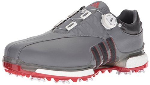 adidas Men's TOUR360 EQT Boa Golf Shoe Grey Four/Utility Black/Scarlet 9 Medium ()