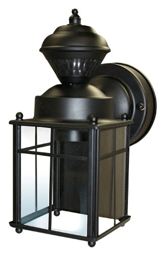 Heath/Zenith HZ-4132-BK 150-Degree Bayside Mission Style Motion Sensing Decorative Security Lantern, Black