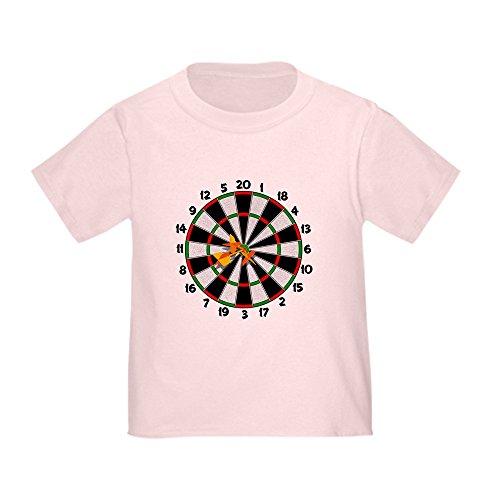 CafePress - Dartboard Bullseye Toddler T-Shirt - Cute Toddler T-Shirt, 100% Cotton Pink