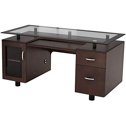 Z-Line Designs Ayden Executive Desk, Brown