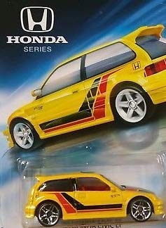 Hot Wheels Honda Series 2018 Release 1990 Yellow Honda Civic EF, '90 Yellow Honda Civic EF