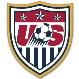 "2pcs USA US Soccer Federation car bumper sticker 4"" x 5"""