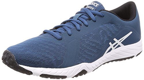 Asics Defiance X Mens Running Trainers S708N Sneakers Shoes (uk 9 us 10 eu 44, blue white black 4501)