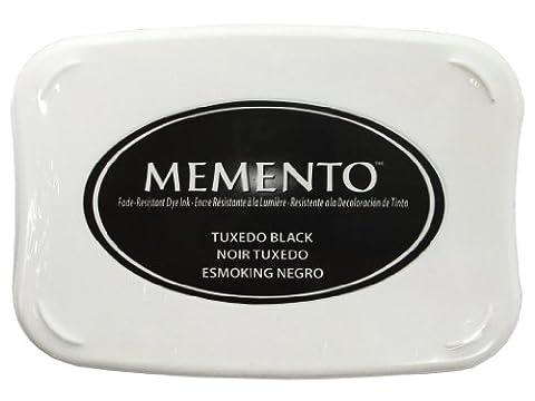 Tsukineko Full-Size Memento Fade Resistant Inkpad, Tuxedo Black