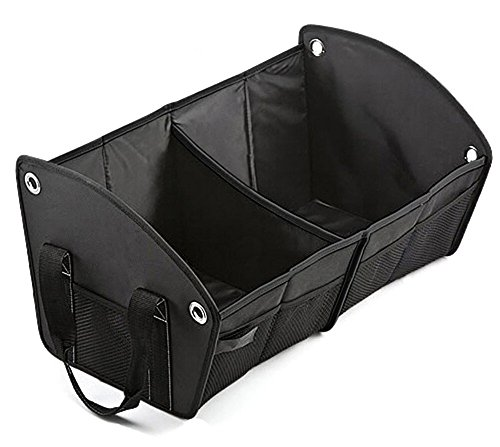 Car Trunk Organizer Multi-Pocket Sturdy Foldable, Cargo Container ,Car Storage Bag for Car, Auto, Truck and SUV Black Suv Storage Bag