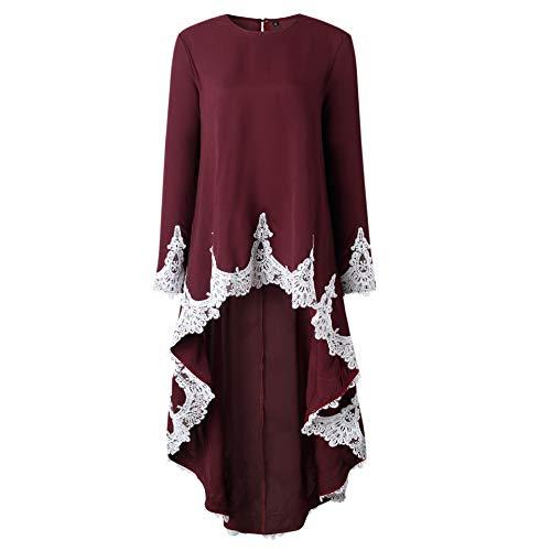 de Maxi Rouge Fleur Maxi Ourlet en Tunique ASSKDAN Femme Robe Evas Robe Irrgulier Dress Cocktail Bal Robe Vin Dentelle 8awUC7x1qn