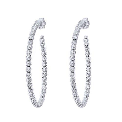 Officina Bernardi Sterling Silver Large Hoop Earrings (45MM) by Officina Bernardi (Image #1)