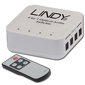 LINDY 4 Way TosLink Digital Optical Audio Switch Amazoncouk TV