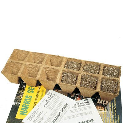 Jiffy 2-1/4'' Peat Pot Strips - Case = 200 Strips of 12 Pots each (2,400 pots) by Jiffy