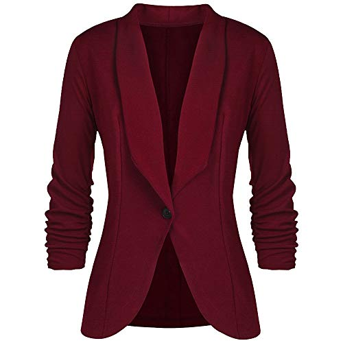 4 Suit OL Winter Style Womens Office Coats Clearance Slim 3 Wine Sleeve DEELIN Women Tops Elegant Long Lapel Ladies Sale Sleeve Fashion Jackets Blazer Pqw1n8R