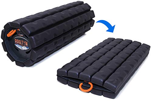 Brazyn Trek Foam Roller - Collapsible & Portable Muscle Roller for Myofascial Release, Massage, Back...