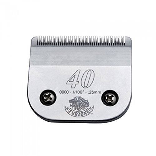 2 EACH Furzone #40 1/100'' - .25 mm barber beauty clipper blades compatible with Oster, Andis, Conair, Wahl, Laube, Thrive