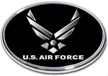 Elektroplate U.S Air Force Wings Black Metal Hitch Cover