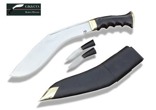Genuine Gurkha Kukri Knife – 11″ Blade World War II Version Gripper Horn Handle, Handmade in Nepal, Outdoor Stuffs