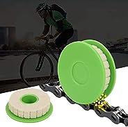 DUJIAOSHOU 2Pcs Bike Chain Oiler Roller Lubricator, Bike Chain Gear Oiler Lube Cleaner Lubricant Bicycle Care