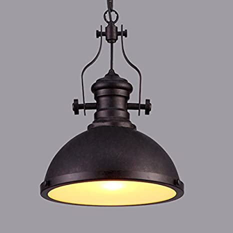 Industrial Single-Light Pendant Lamp - LITFAD Frosted Glass Diffuser ...
