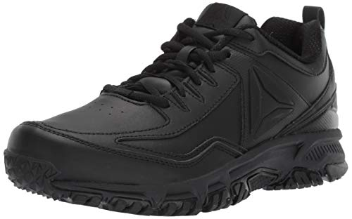Reebok Men's Ridgerider Leather 4E Sneaker, black/black/black - wide e, 11 4E US (Best Shoes For Running On Pavement 2019)