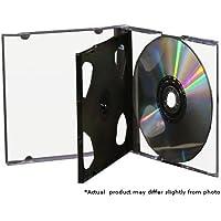 Mediaxpo Brand 50 STANDARD Black Triple 3 Disc CD Jewel Case
