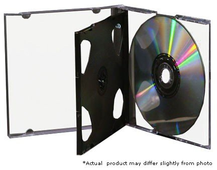 25 STANDARD Black Triple 3 Disc CD Jewel Case by CheckOutStore
