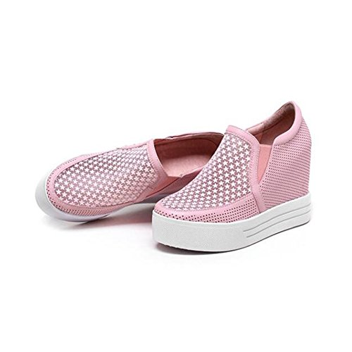 Eu35 Respirant couleur En Cjc Décontractées Épais Chaussures uk3 B Mesh Cuir Taille 10cm A WaHPqH