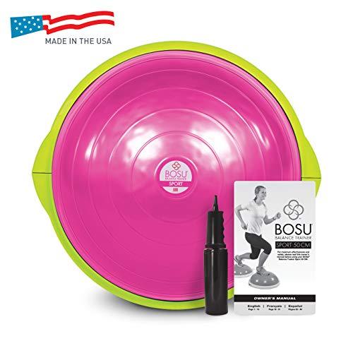 BOSU Sport Balance Trainer - Travel Size, 50cm, Pink