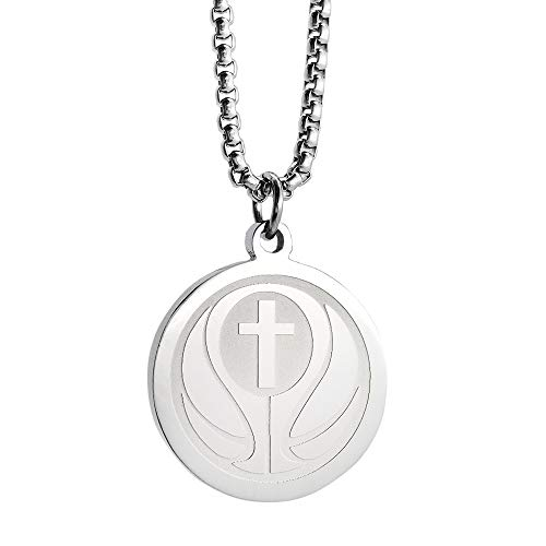 Catholic Necklace Bible Verse Stainless Steel Necklace I CAN DO All Things Bible Verse Necklace Silver Basketball Pendant with 23Inch Chain ()