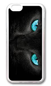 MOKSHOP Adorable cat turquoise eyes Soft Case Protective Shell Cell Phone Cover For Apple Iphone 6 (4.7 Inch) - TPU Transparent