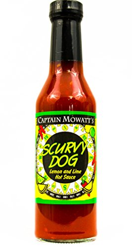 Captain Mowatt's Scurvy Dog, Lemon Lime Hot Sauce, 8 oz.