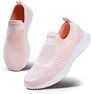 ziitop Women's Lightweight Walking Shoes Casual Sock Sneakers Comfortable Running Shoe Slip-On Gym Sports