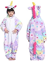 8e40bd8c0b Kids Unicorn Onesie Pajamas One-Piece Animal Cosplay Costume for Xmas  Halloween