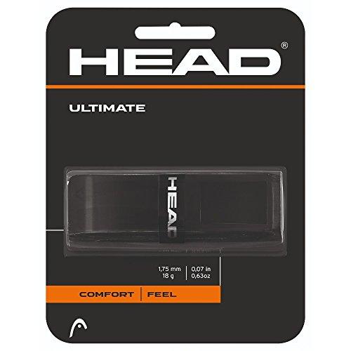 HEAD Ultimate Tennis Racket Replacement Grip - Tacky Racquet Handle Grip Tape - Black