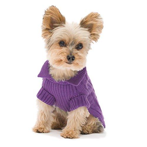 Stinky G Violet Aran Dog Sweater Size #10 Small