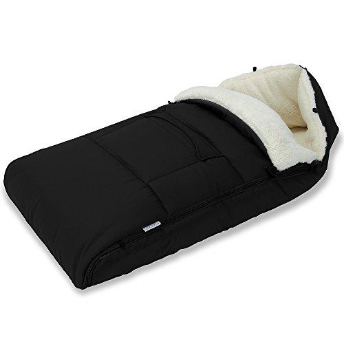 Saco para bebe para cochecito, silla de coche o asiento de bebe color gris - 93 x 56 cm - material: poliester 100 %