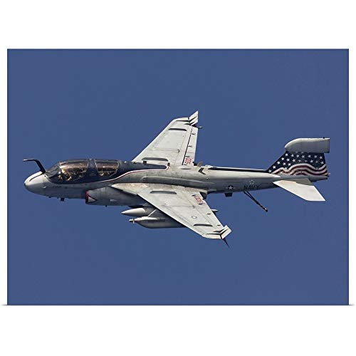 GREATBIGCANVAS Poster Print Entitled an EA-6B Prowler in Flight Over The Arabian Sea by Gert Kromhout 40