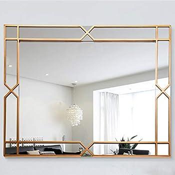 Amazon Com Commoda Large Rectangle Decorative Accent Wall Mounted Mirror Rectangular Angled
