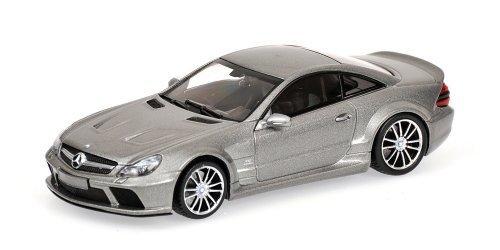 Mercedes-Benz SL65 AMG Black Series (Top Gear Power Lap) in Metallic Grey (1:43 scale) Diecast Model Car by Minichamps
