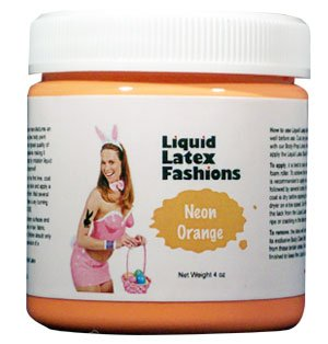 - Ammonia Free Liquid Latex Body Paint - 4oz Neon Orange