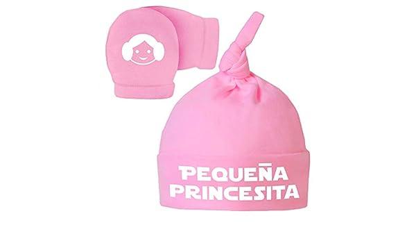 ClickInk Pack Gorro y Manoplas recién Nacido. Pequeña princesita ...