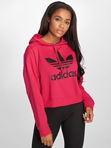 Mujer Hood Sudadera Tops Lf Originals Magenta Crop Adidas BqwIS5nB
