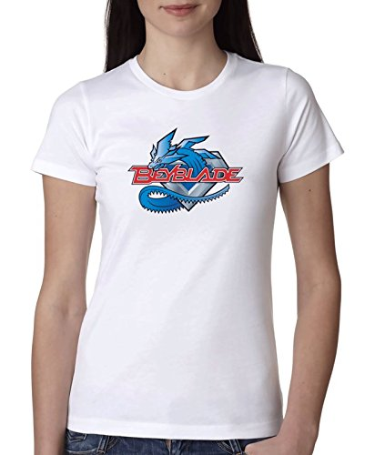 Beyblade-dragon blanco camiseta top t-shirt shirt De las mujeres 2XL WHITE T-SHIRT: Amazon.es: Ropa y accesorios