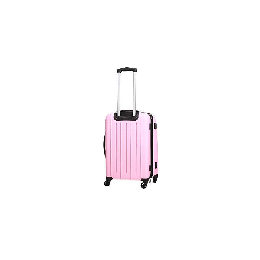 Pure - Hartschalen-Koffer Colorful | Kleiner Trolley mit 4 Rollen und Zahlenschloss in Grö ß e S | Reisekoffer in Handgepä ck-Grö ß e | 36 Liter | Grü n