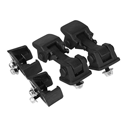 Hood Latches Set of 2 - Replaces 55176636AD, 68038118AA, 42422 - Fits 1997, 1998, 1999, 2000, 2001, 2002, 2003, 2004, 2005, 2006 Jeep Wrangler TJ - Hold-Down Hook Latch Pair -