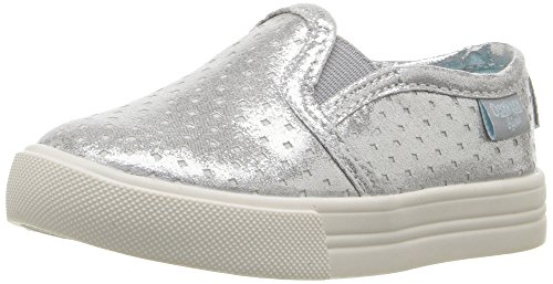 OshKosh B'Gosh Edie Girl's Slip-On, Silver, 12 M US Little Kid